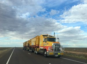 Road train truck, similar to ones that residential movers Fort Worth TX use.