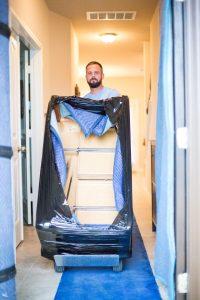 skilled mover loading furniture