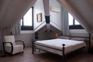 a furnished attic