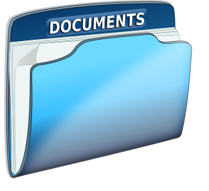 A file with documents
