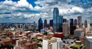 Dallas skyline where Moving boxes Best Movers Fort Worth work