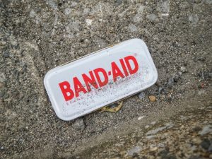 Band-aid metal box