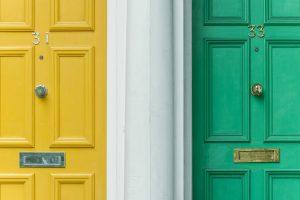 a couple of neighbor doors
