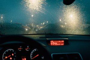 car in the rain