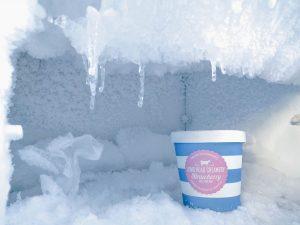 ice cream in the freezer