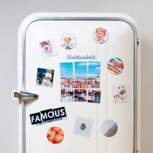 magnets on the fridge