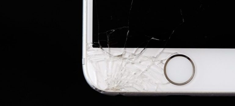 A broken iPhone