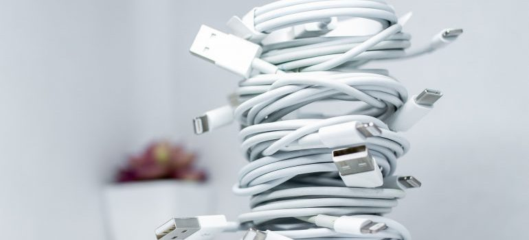 Charging cables.