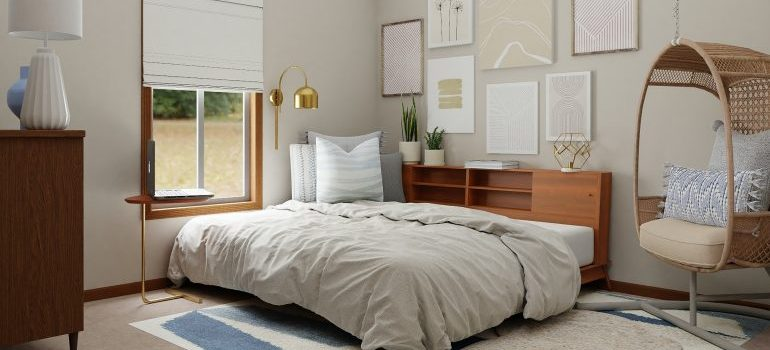 Various items placed in the bedroom